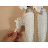 Cuckoo Clocks White with Painted Flowers, 8 Day Cuckoo Clocks - SavvyNiche.com