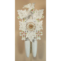 White with Painted Flowers, 8 Day Cuckoo Clocks - SavvyNiche.com