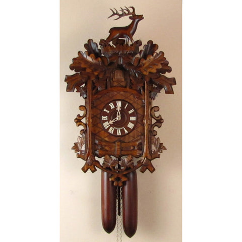 Deer Hunter Trellis Grape Leaves, 8 Day Cuckoo Clocks - SavvyNiche.com
