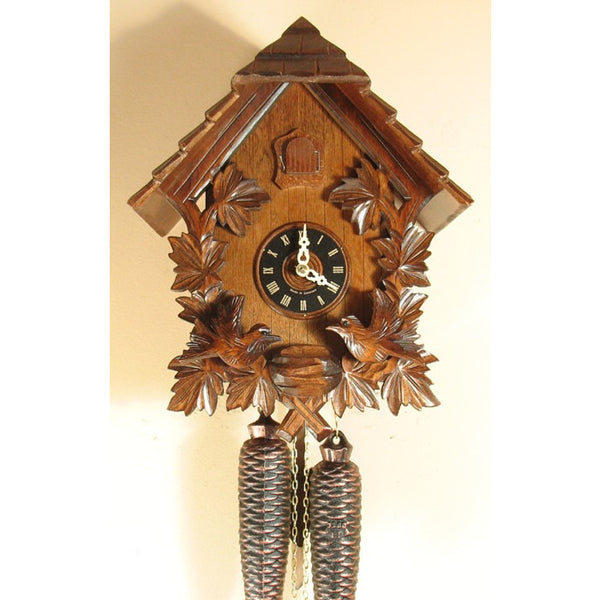 Moving Birds feed the Nest, 8 Day Chalet Cuckoo Clocks - SavvyNiche.com