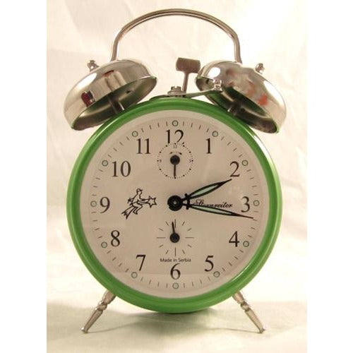 Double Bell Green, Alarm Clocks - SavvyNiche.com