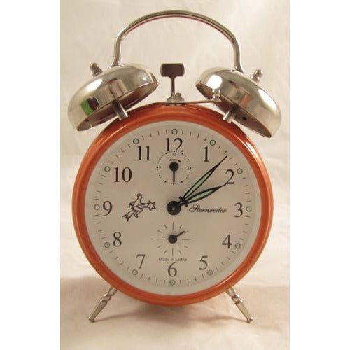 Double Bell Orange, Alarm Clocks - SavvyNiche.com