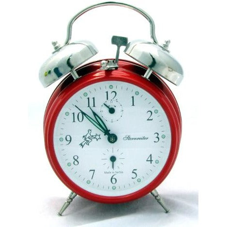 Double Bell Traffic Red, Alarm Clocks - SavvyNiche.com