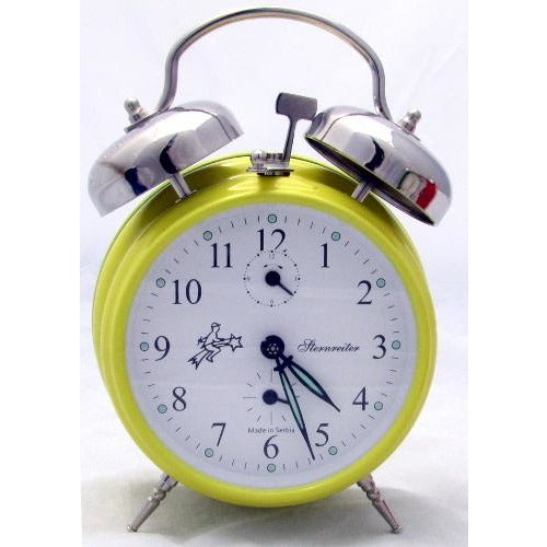 Double Bell Yellow, Alarm Clocks - SavvyNiche.com