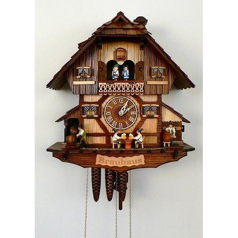 German Cuckoo Clock Beer Tapping Beer Drinkers, 1 Day Musical Chalet Cuckoo Clocks - SavvyNiche.com