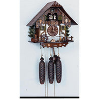 German Made Cuckoo Clocks Wood Chopper, 8 Day Musical Chalet Cuckoo Clocks - SavvyNiche.com