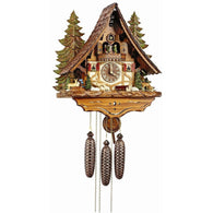 Cuckoo Wall Clock Deer Rabbit Squirrel Black Forest Scene, 8 Day Musical Chalet Cuckoo Clocks - SavvyNiche.com