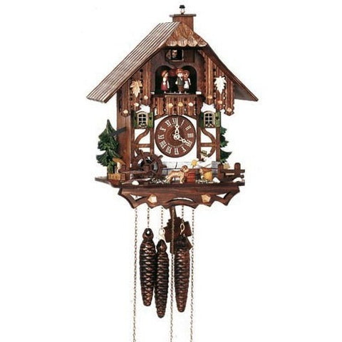 German Cuckoo Clock Beer Drinker & Chimney Sweep Pops Out, 1 Day Musical Chalet Cuckoo Clocks - SavvyNiche.com