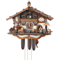German Made Cuckoo Clocks Oktoberfest Musicians, 8 Day Musical Chalet Cuckoo Clocks - SavvyNiche.com