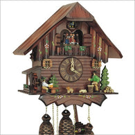 German Made Cuckoo Clock Wood Chopper & Beer Drinker, 8 Day Musical Chalet Cuckoo Clocks - SavvyNiche.com