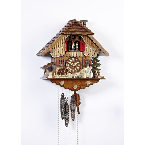 German Cuckoo Clock Accordion Organ Musician, 1 Day Musical Chalet Cuckoo Clocks - SavvyNiche.com