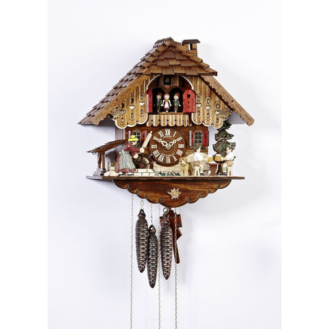 Black Forest Cuckoo Clock Moving Woman, Beer Drinkers , Dancers, 1 Day Musical Chalet Cuckoo Clocks - SavvyNiche.com