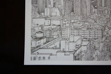 New York city skyline art print detail