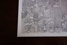 New York city skyline drawing detail