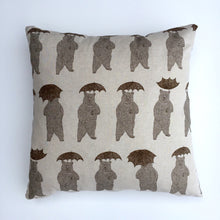 Brown bear print with umbrella cushion cover
