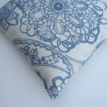 Light blue watercolor print cushion cover