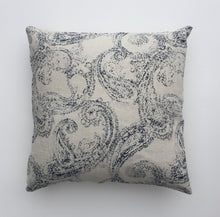 Antique china print linen cushion cover