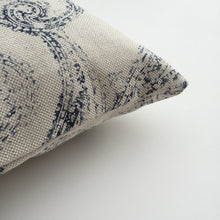 Antique china print cushion cover detail view