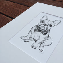 Dog portrait French Bulldog fine art print detail view
