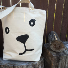 Bear organic cotton tote bag