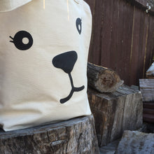 Bear face cotton market bag