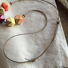 Moroccan Vibes geometric wooden necklace