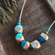 Santorini blue wooden necklace