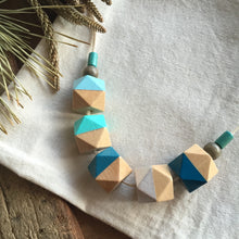 Greek island wooden necklace