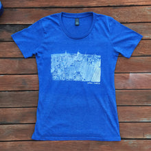 Blue New York City print T shirt