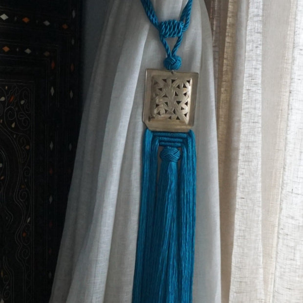 A Little Morocco Tassel Turquoise Souk Styled C
