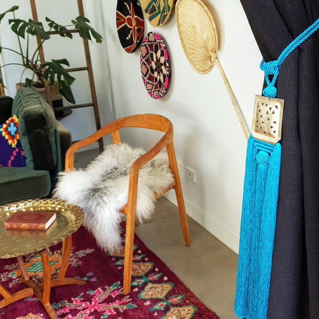 A Little Morocco Tassel Turquoise Souk Styled