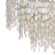 A Little Morocco, Glass Chandelier 50cm White