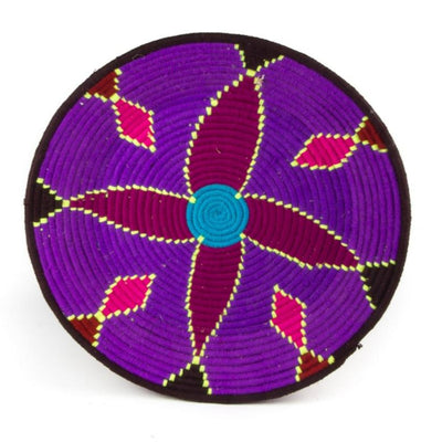 Berber Platter - Purple Flower 44cm | A Little Morocco