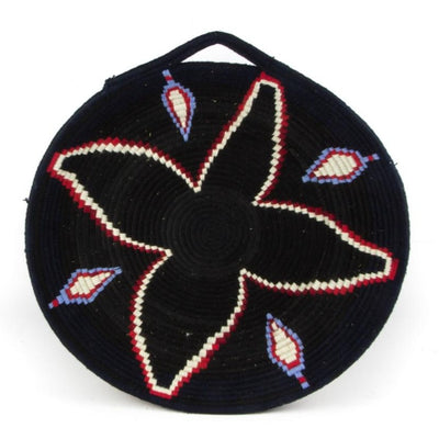 Berber Platter - Black Flower 48cm | A Little Morocco