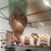 A Little Morocco, Glass Chandelier Cascade Styled
