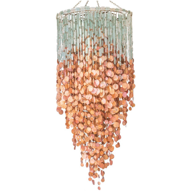Malawi Glass and Copper Chandelier - Grand Cascade