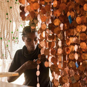 A Little Morocco, Glass and Copper Chandelier Artisan Making