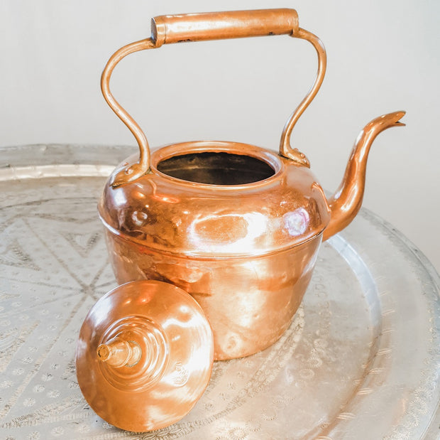 "A Little Morocco, Moroccan Vintage Teapot - ""Copper Kettle"" Large - Open"