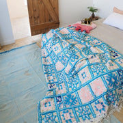 "Handira Wedding Blanket - ""Blue Bell"" 270x167cm"