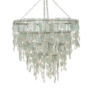 A Little Morocco, Glass Chandelier 50cm Aqua White