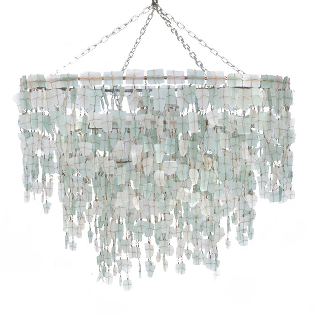 A Little Morocco - Malawi Chandelier Aqua and White