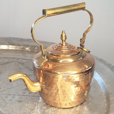 A Little Morocco, Vintage Moroccan Teapot, Copper Buckle - Front