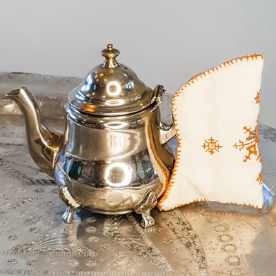 A Little Morocco, Moroccan Vintage Teapot Medina Cafe, Small - Front