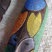 African Mask - Vintage Beaded Trio 65cm-African Mask-A Little Morocco