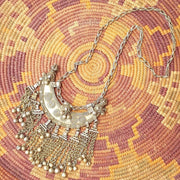 A Little Morocco Bedouin Vintage Crescent Necklace Full length