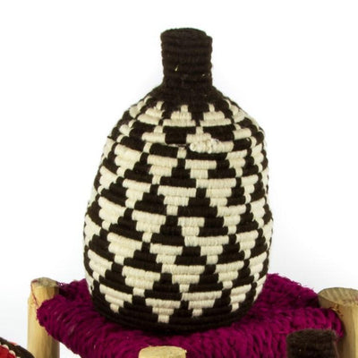 Berber Basket - Brown n' Cream 16x24cm-Berber Basket-A Little Morocco