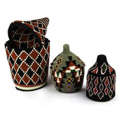 A Little Morocco, Berber Basket - Large Black and Red Styled