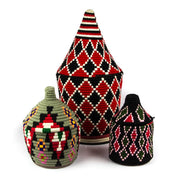 A Little Morocco, Berber Basket - Large Black and Red Group