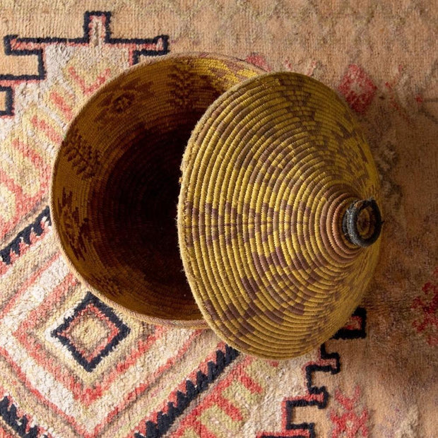 Berber Basket - Large Vintage Vines