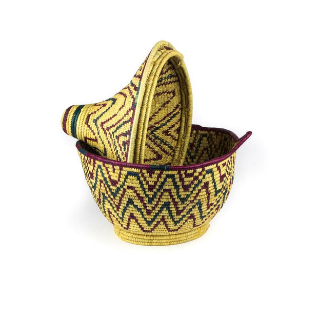A Little Morocco, Berber Basket - Large Vintage Zigzag Single B